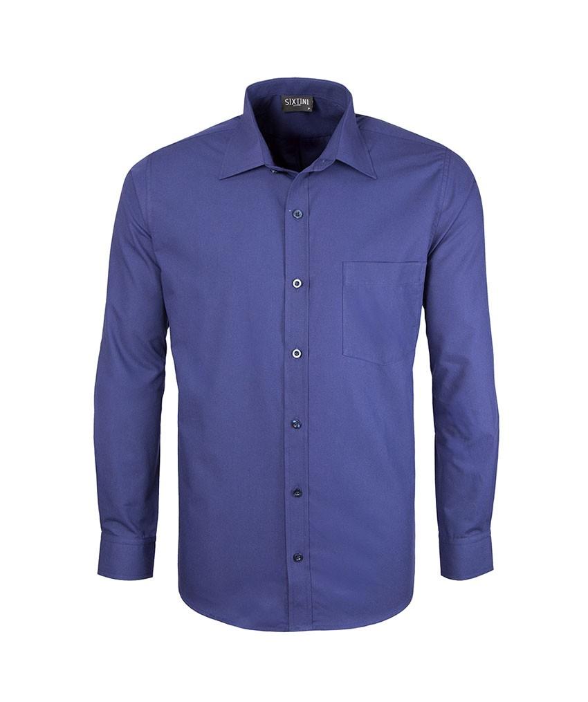 Camisa Social Tradicional Passa Fácil Azul Indigo