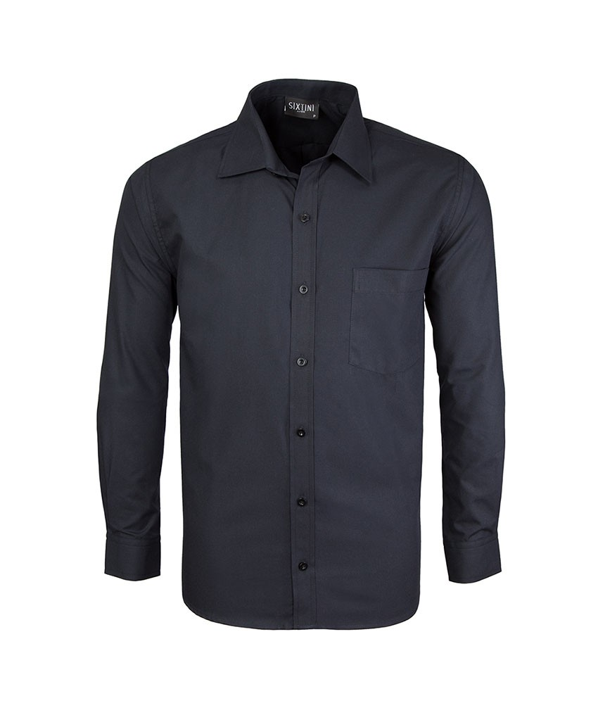 Camisa Social Tradicional Passa Fácil Preta