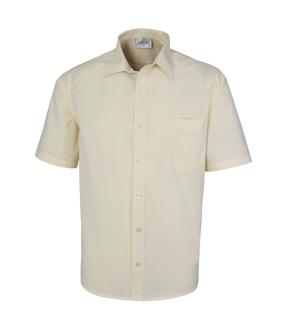 Camisa Tradicional Amarelo Manga Curta