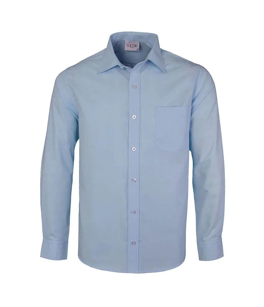 Camisa Tradicional Azul Claro