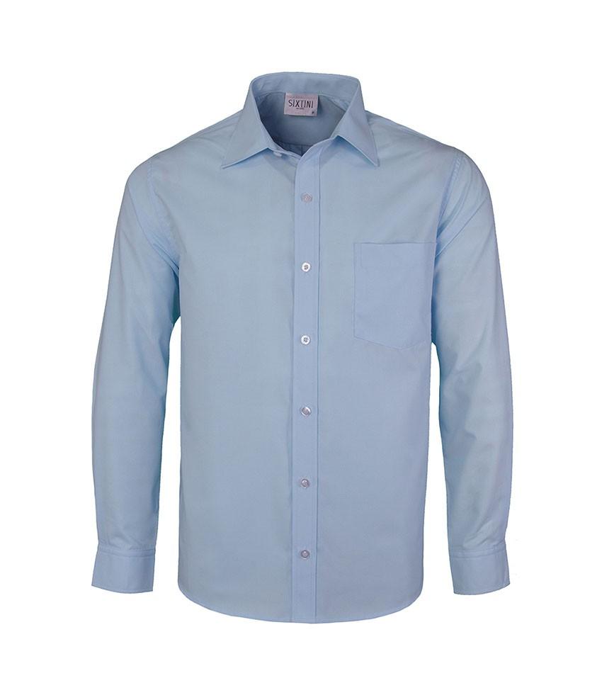 Camisa Social Tradicional Passa Fácil Azul Claro