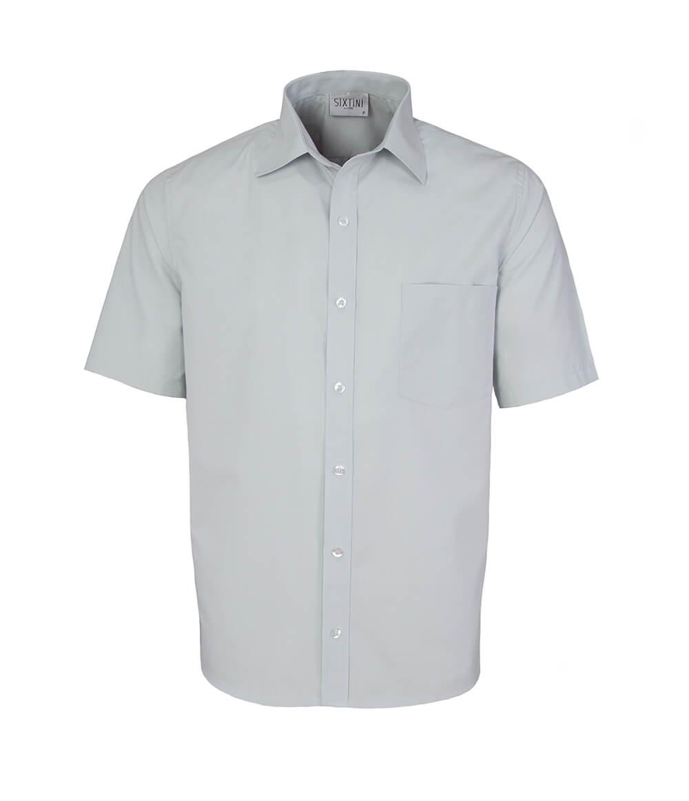 Camisa Tradicional Cinza Manga Curta