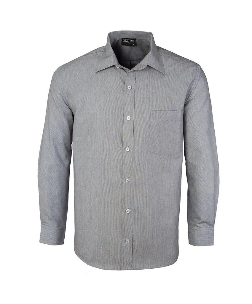 Camisa Tradicional Listras Finas Preto