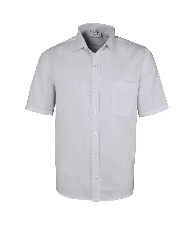 Camisa Tradicional Maquinetada Branco Manga Curta