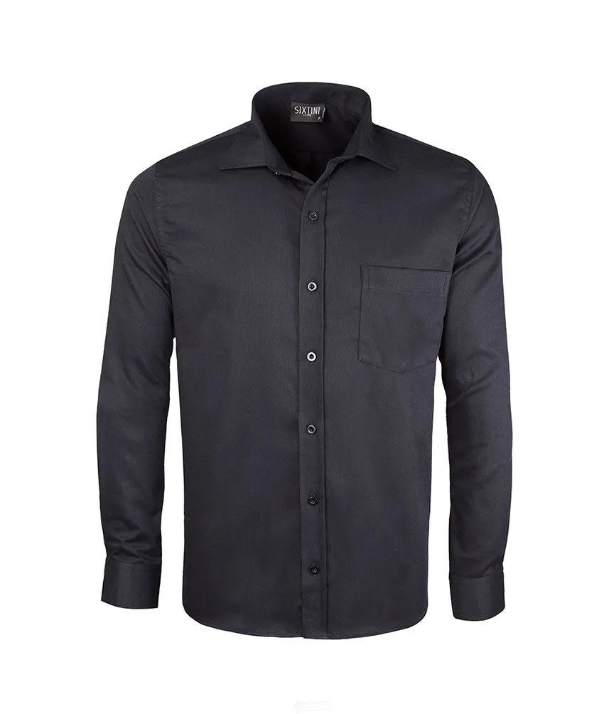 Camisa Tradicional Maquinetada Preto