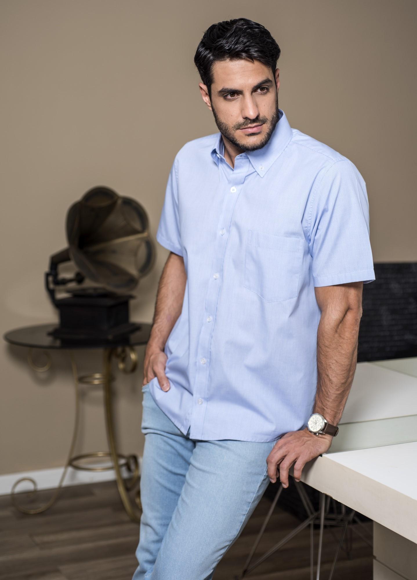 Camisa Xadrez Mini Azul