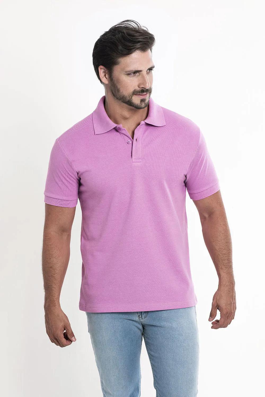 Camiseta Polo Lilás