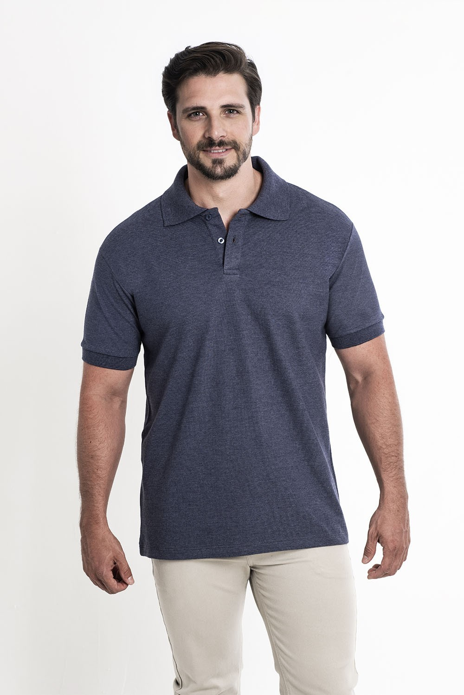 Camiseta Polo Marinho Mescla