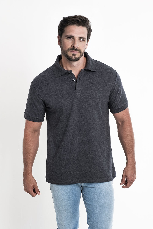 Camiseta Polo Preto Mescla