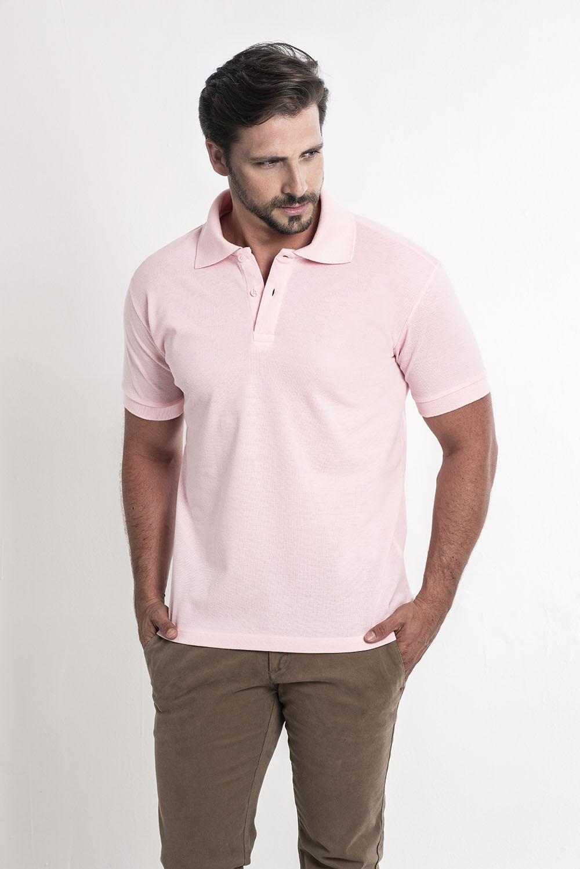 Camiseta Polo Rosa
