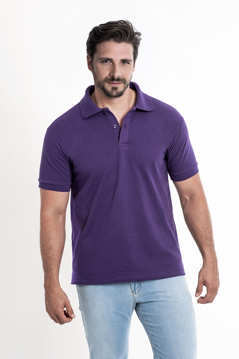 Camiseta Polo Roxo