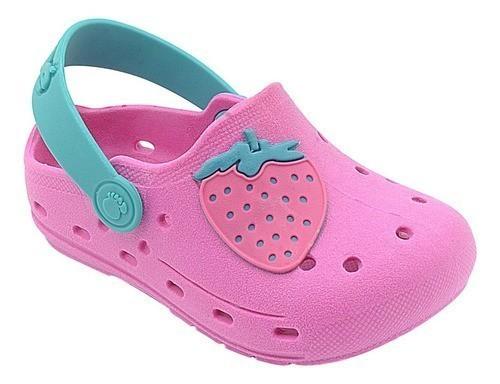 Babuche Infantil Morango Pink Menina