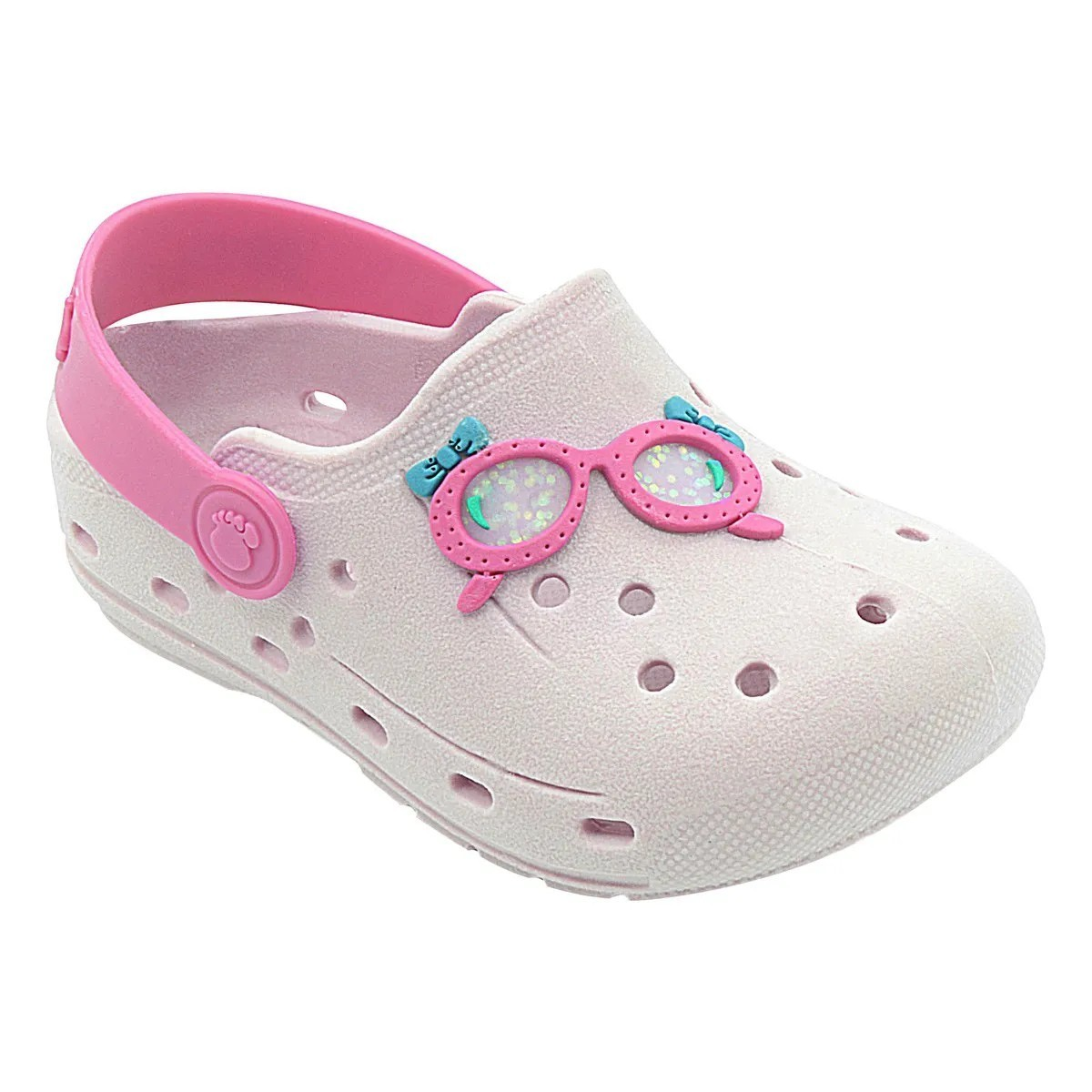 Babuche Infantil Óculos Rosa Menina
