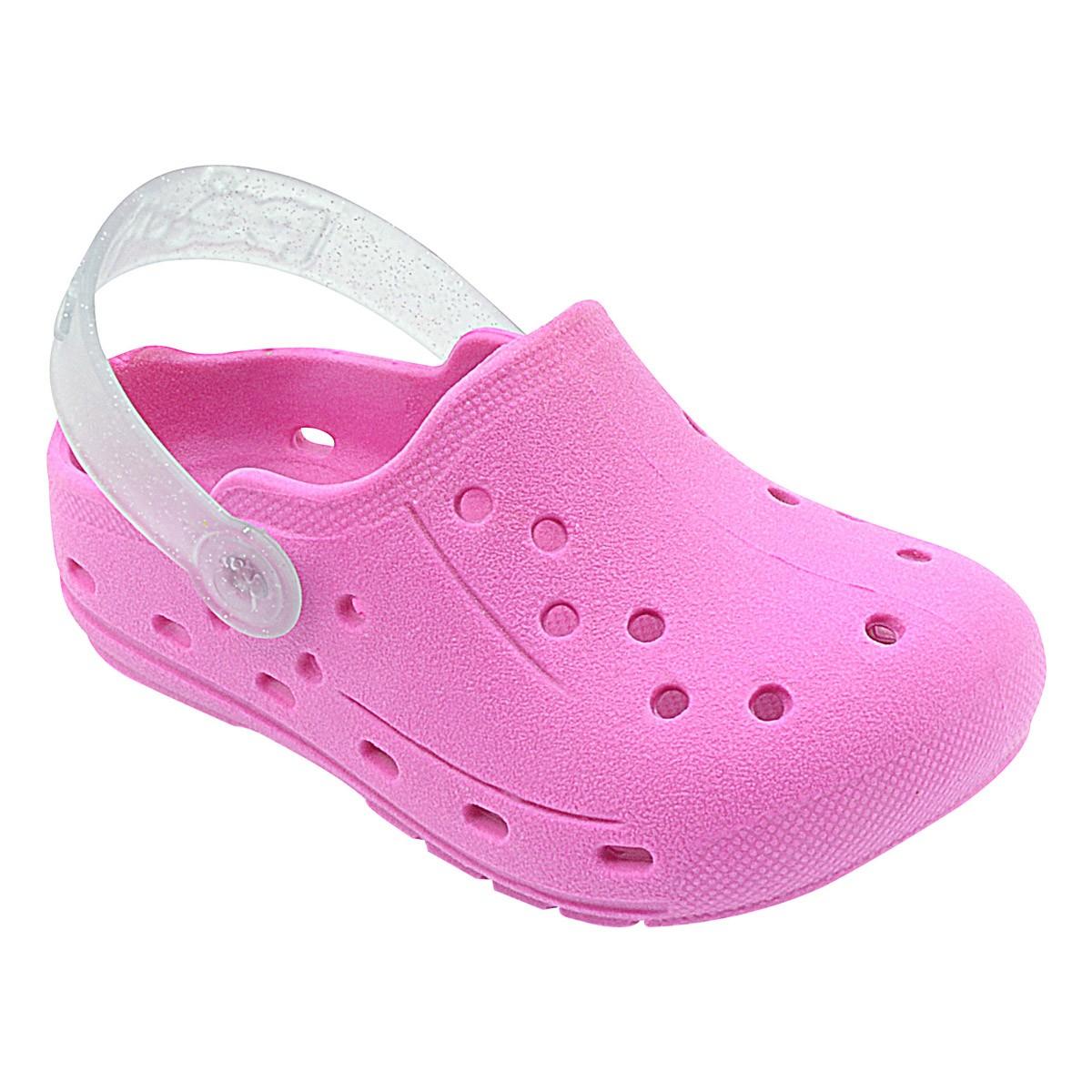 Babuche Infantil Pink com Glitter Menina
