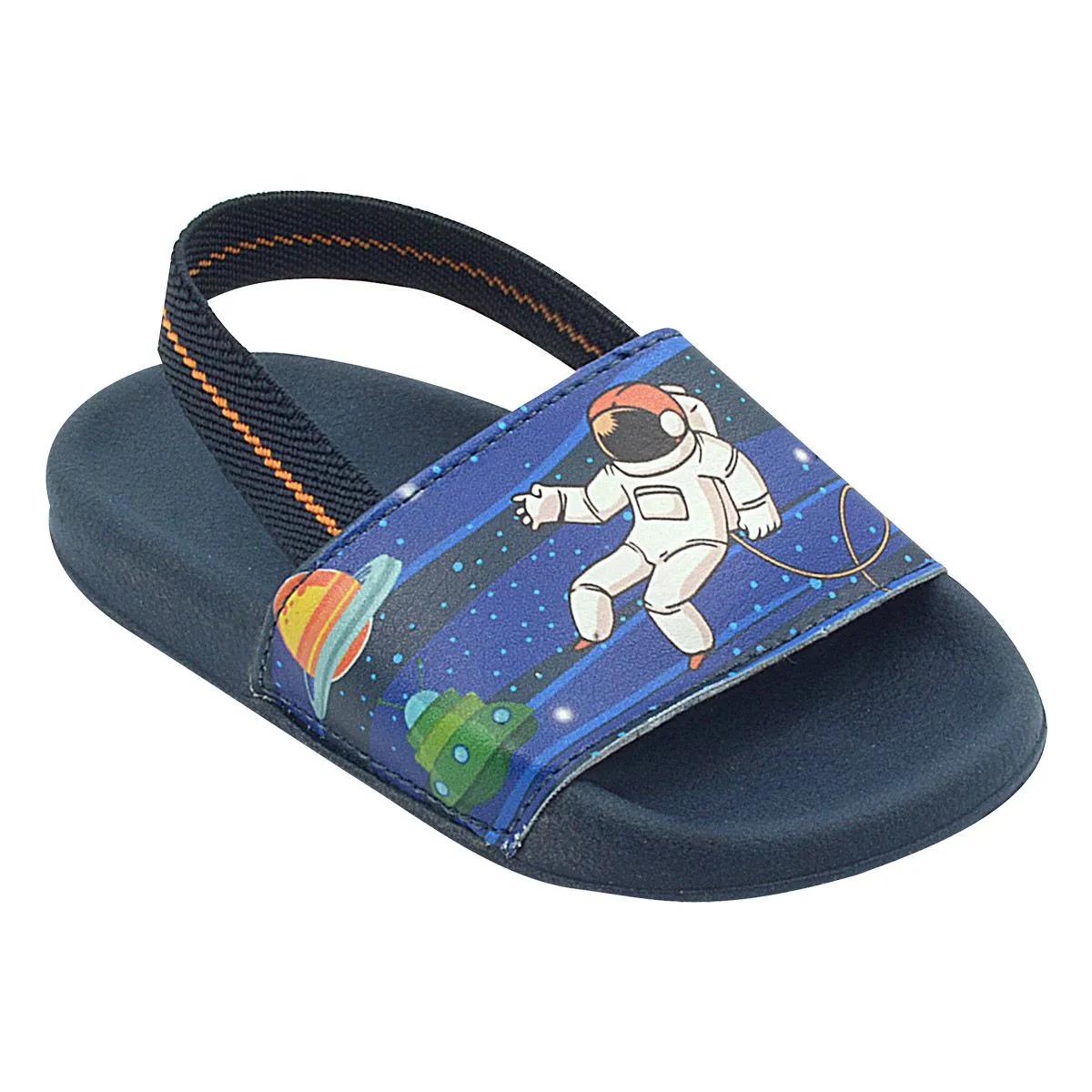 Chinelo Infantil Summer Astronauta Azul Royal Menino