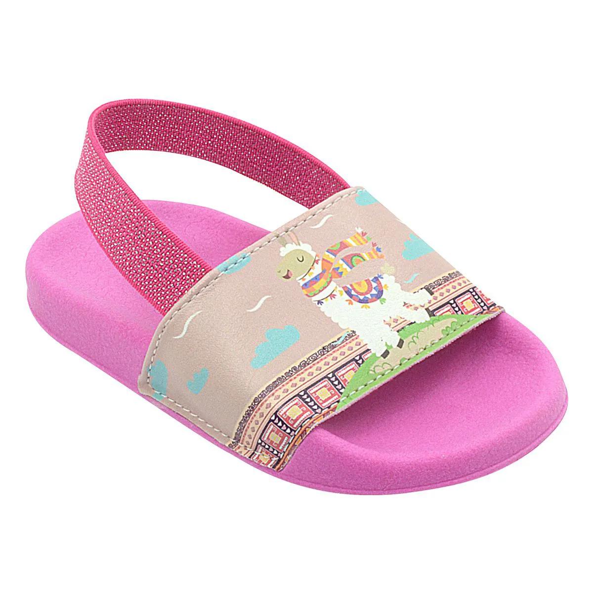 Chinelo Infantil Summer Lhama Pink Feminino