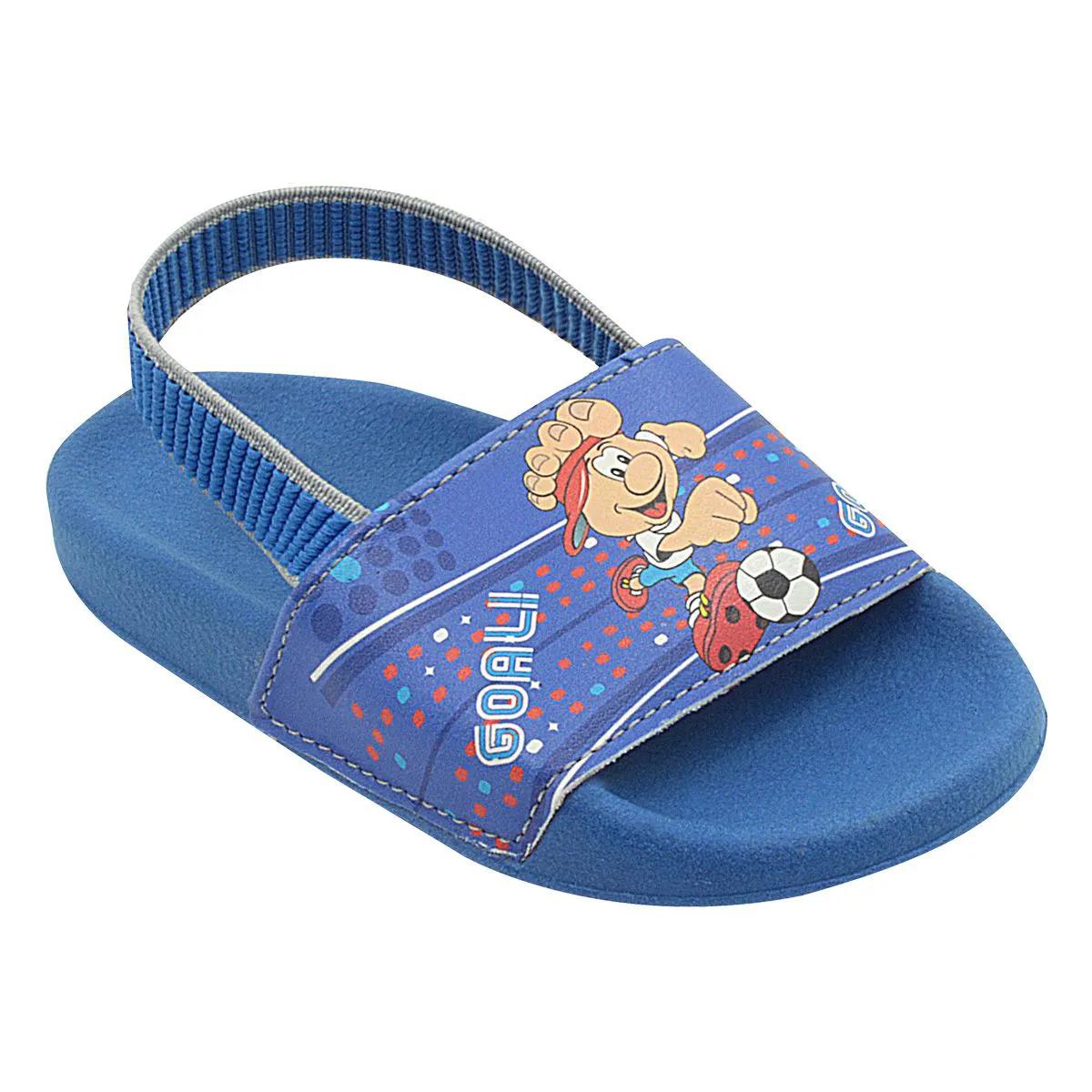 Chinelo Infantil Summer Mascote Azul Royal Masculino