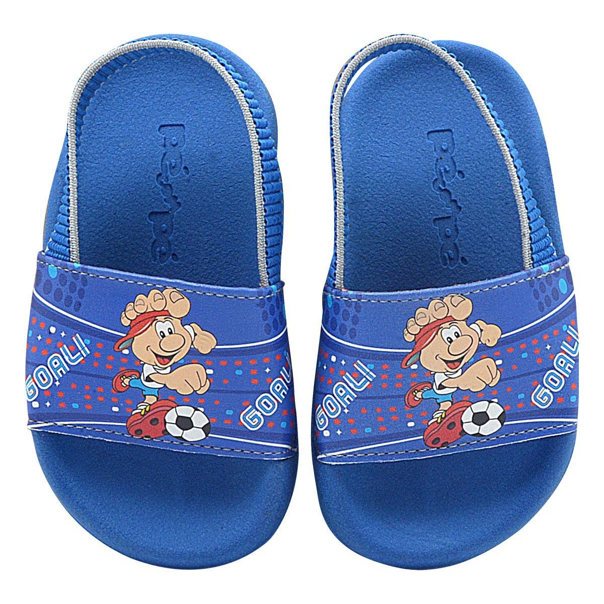 Chinelo Infantil Summer Mascote Azul Royal Menino
