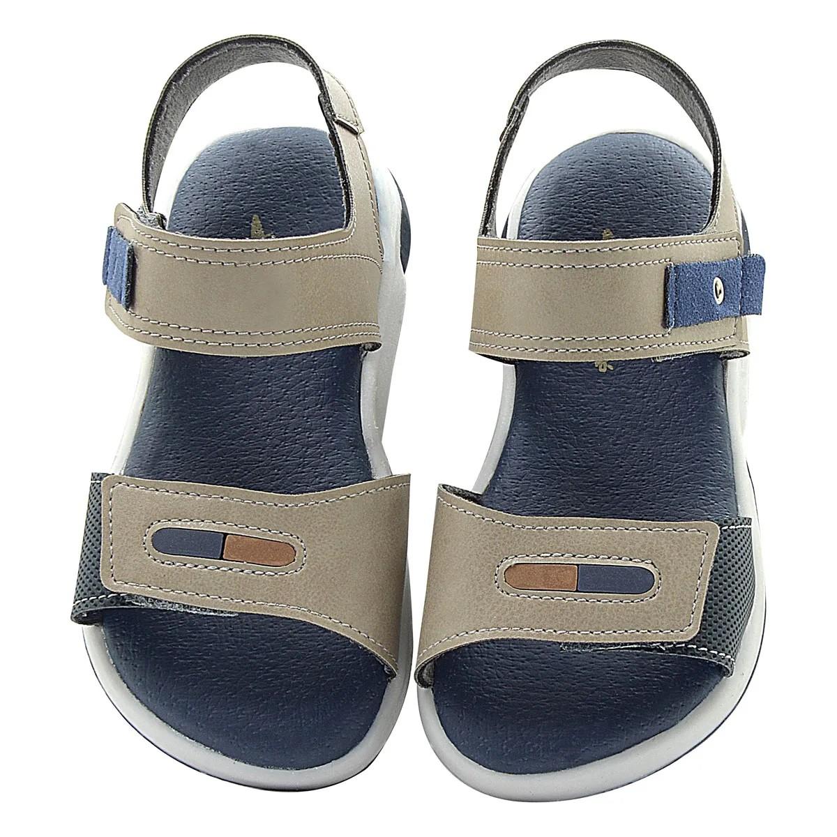 Papete Infantil Pé com Pé Bege Calce Fácil Velcro Menino