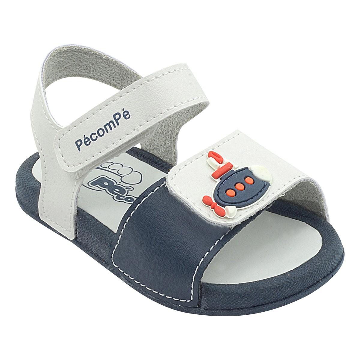 Papete Infantil Pé com Pé Calce Fácil Velcro Azul Menino