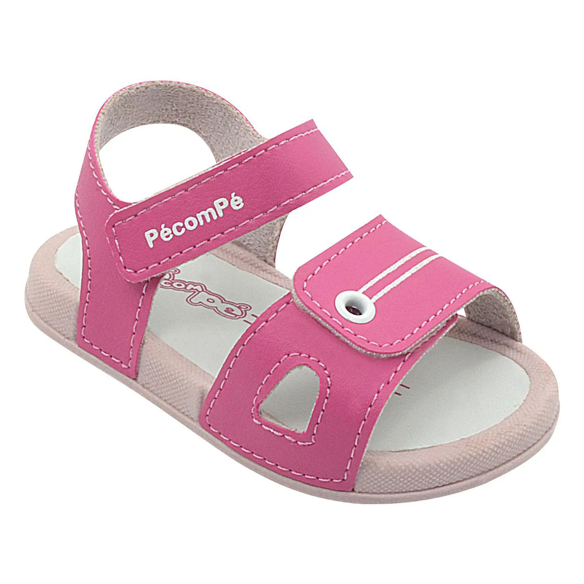 Papete Neném Infantil com Velcro Pink Feminina