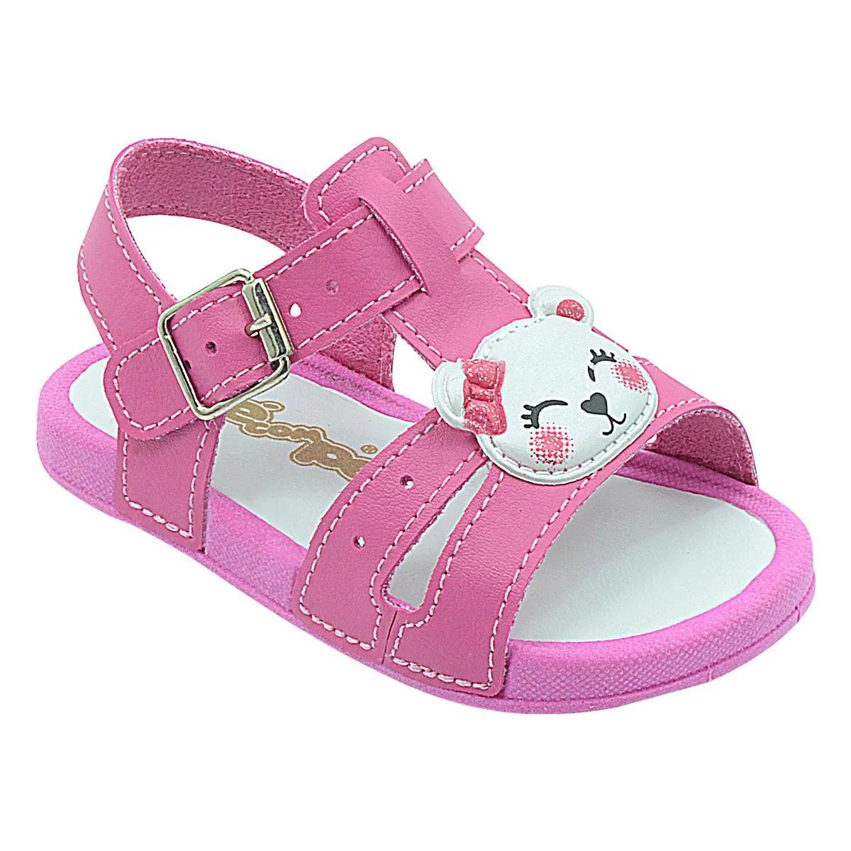 Papete Neném Infantil Ursinha Pink Feminina