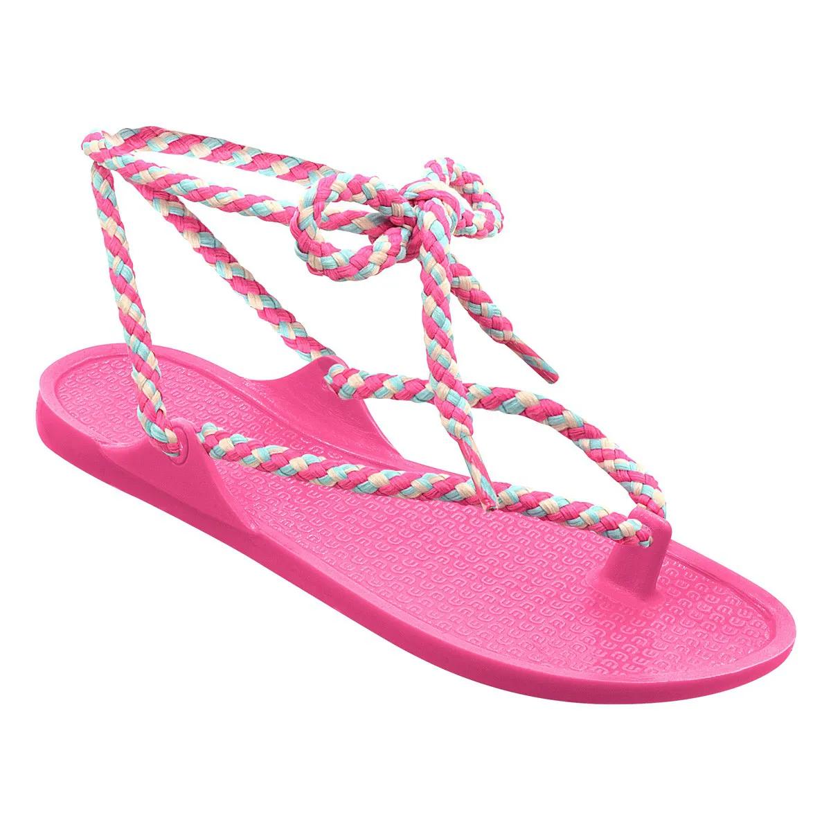 Sandália wiki Infantil de Amarrar Pink Menina