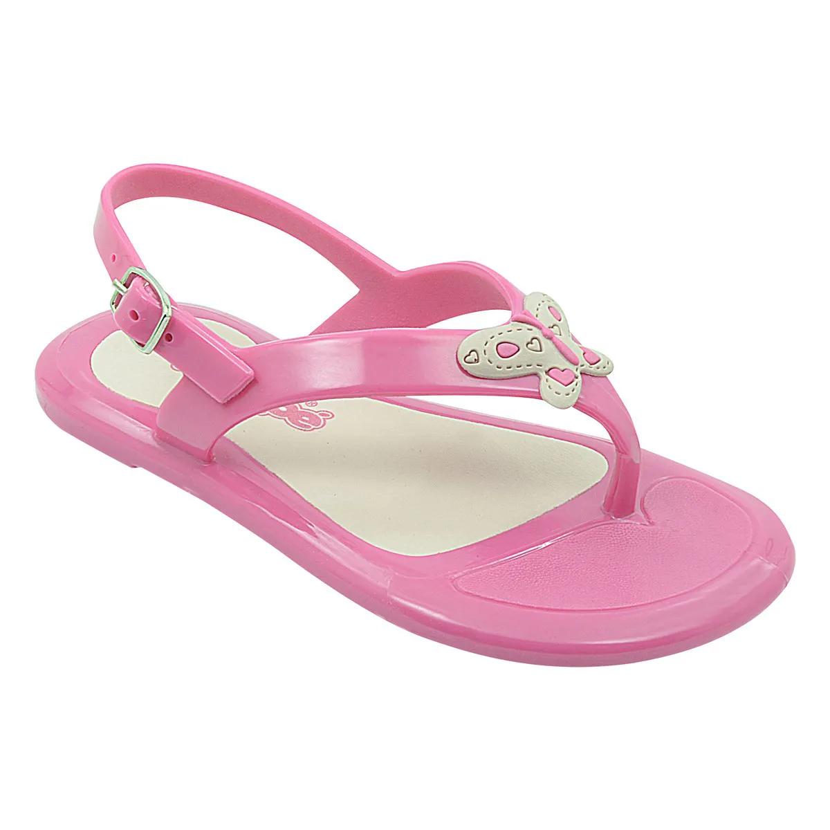 Sandália Infantil Pé com Pé Borboleta Soft Pink