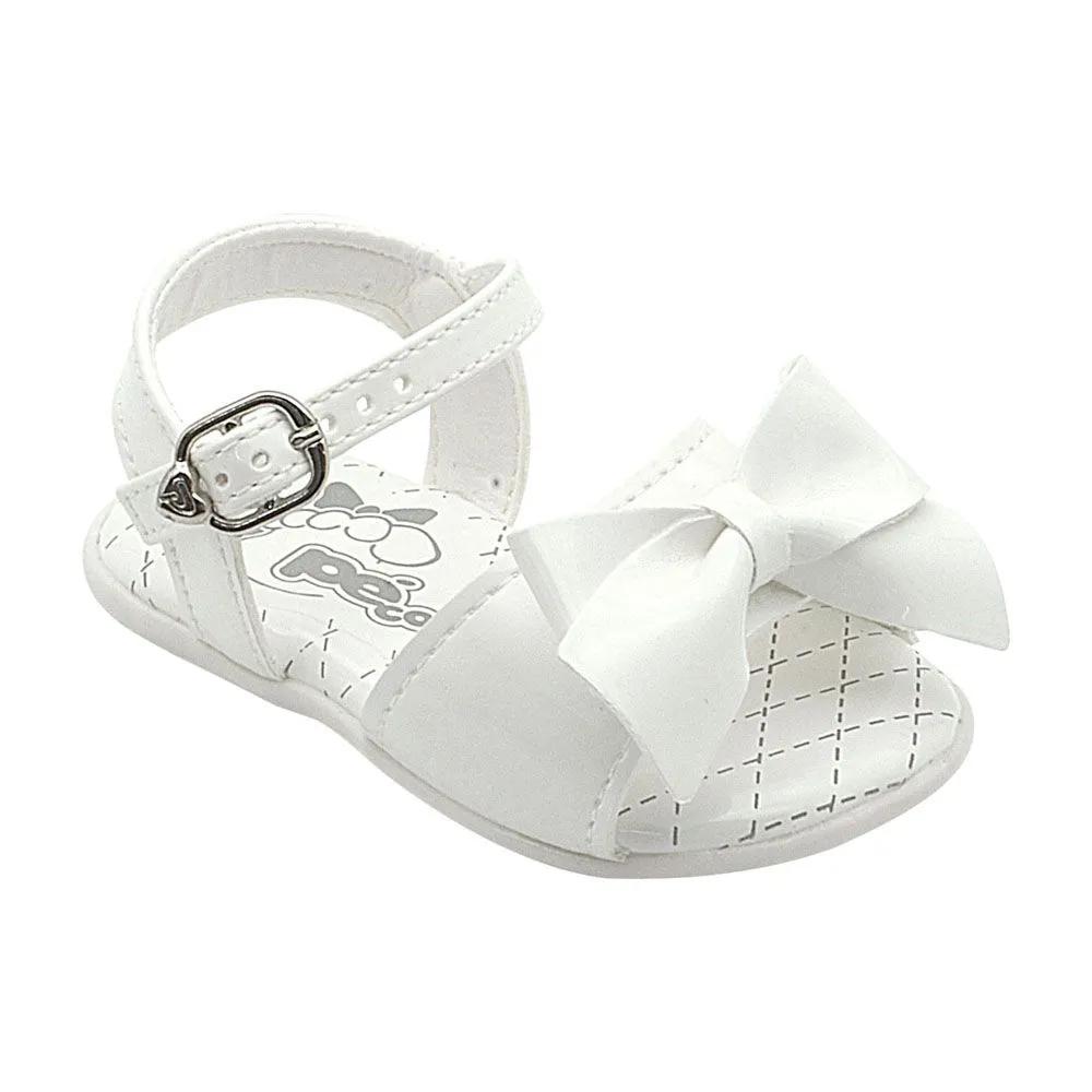 Sandália Infantil Neném Com Lacinho Branco