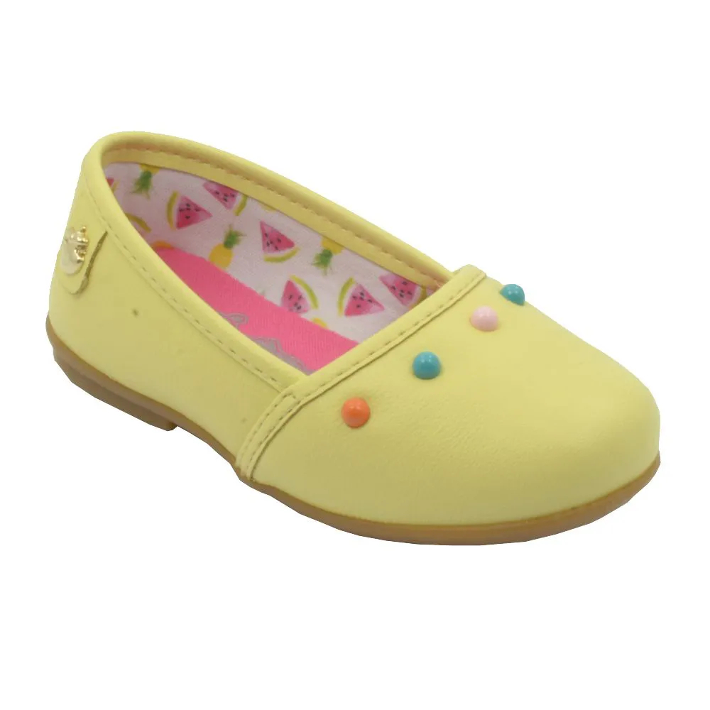 Sapatilha Infantil Amarela Feminina