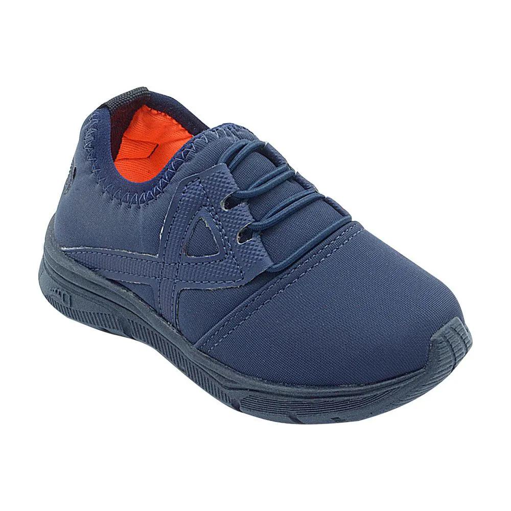 Tênis Infantil Calce Fácil Azul Marinho Masculino