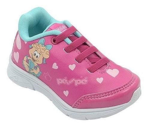 Tênis Infantil Pé com Pé Mascote Pézinha Pink Menina