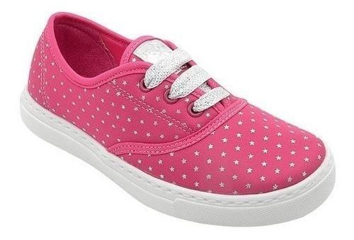 Tênis Infantil Pé com Pé Pink Com Estrelas Menina