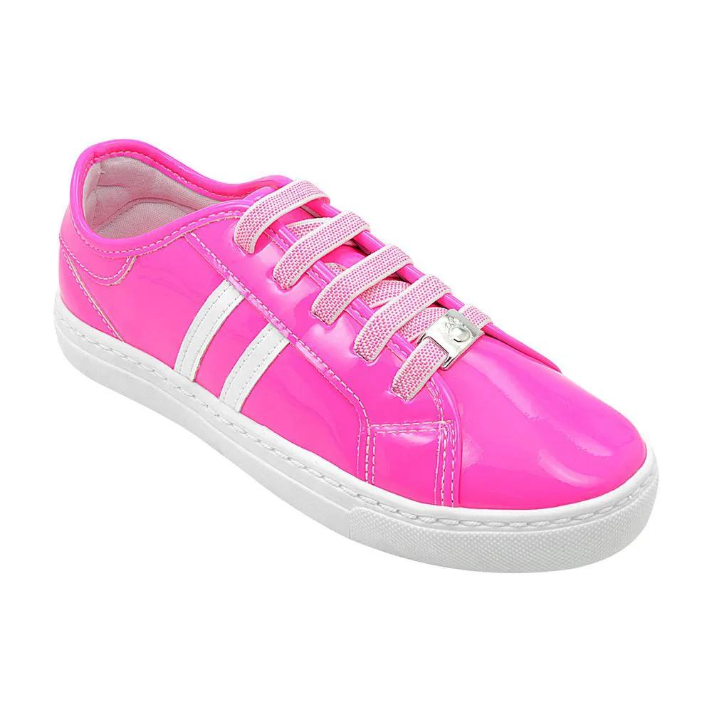 Tênis Infantil Pé com Pé Pink Neon Feminino