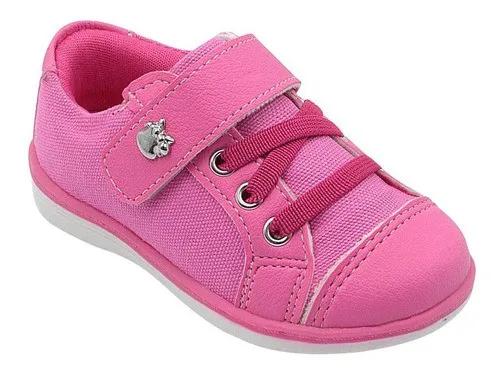 Tênis Infantil Pink com Velcro Feminino