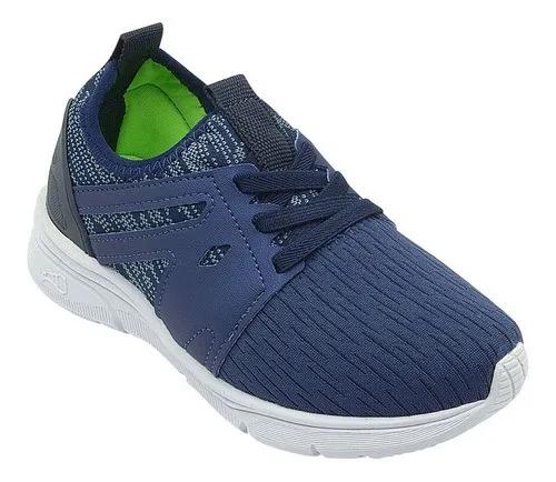 Tênis Infantil Runner Azul Calce Fácil Masculino