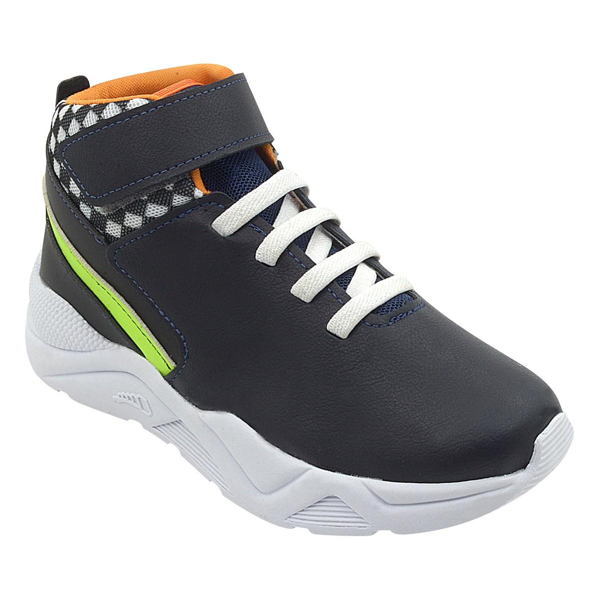Tênis Infantil Sneaker Cano Alto Marinho Menino