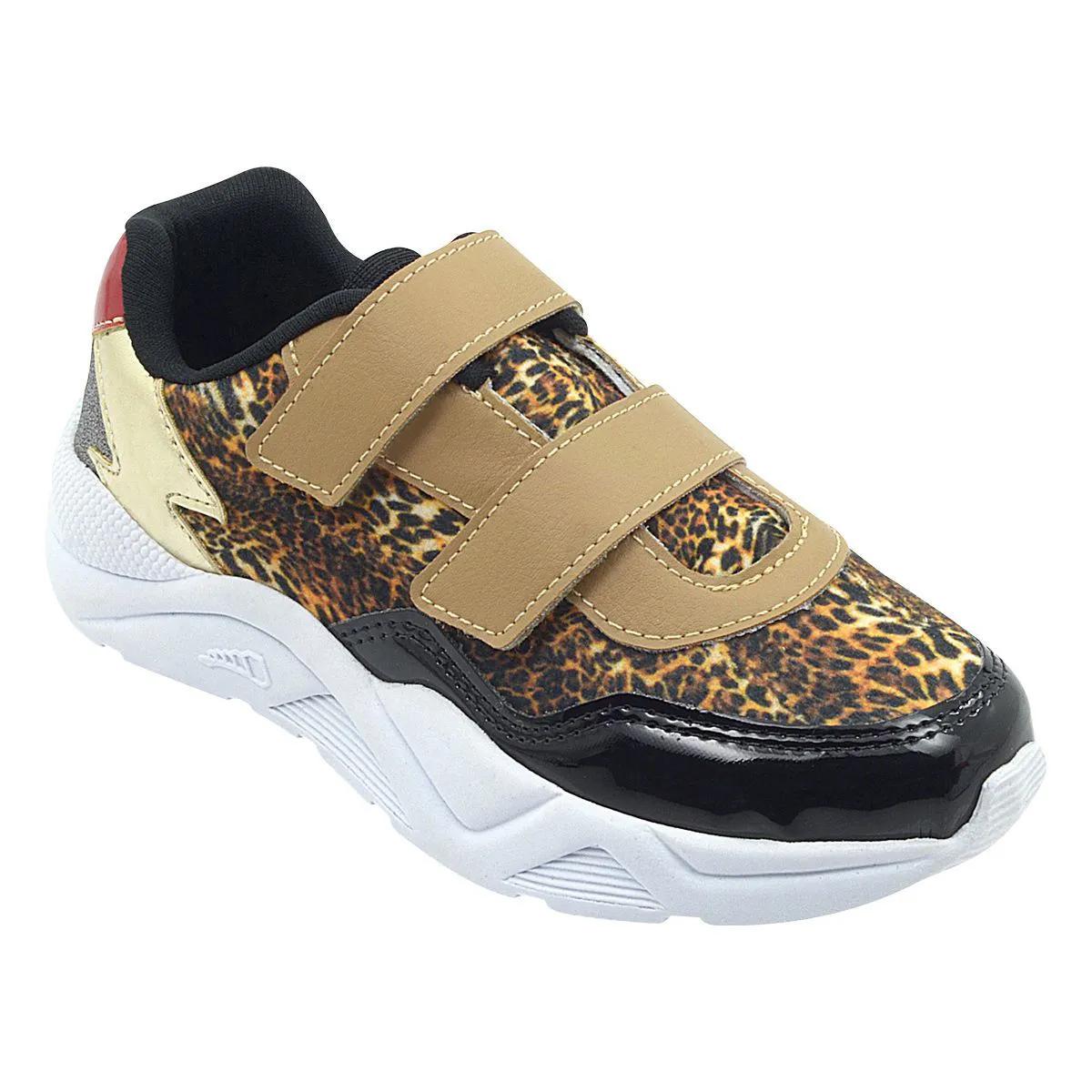 Tênis Infantil Sneaker Oncinha Feminino