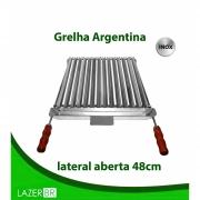 Grelha Argentina Churrasqueira aberta inox 77x48cm
