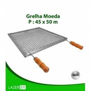 Grelha Moeda para Churrasqueira 4 espetos inox 45x48cm