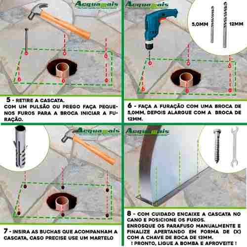 Cascata Piscina Inox Naja 105cm