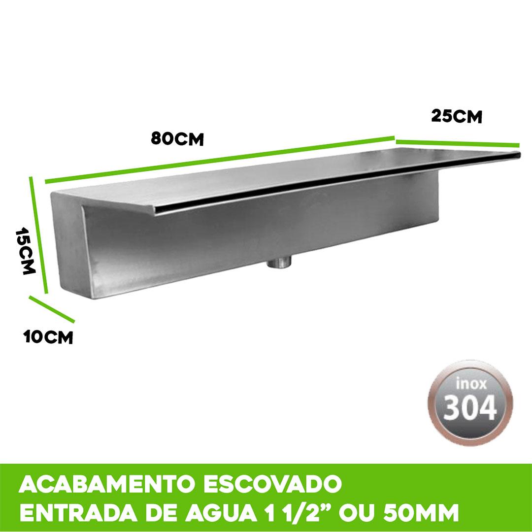 Cascata para Piscina de Embutir inox 80cm
