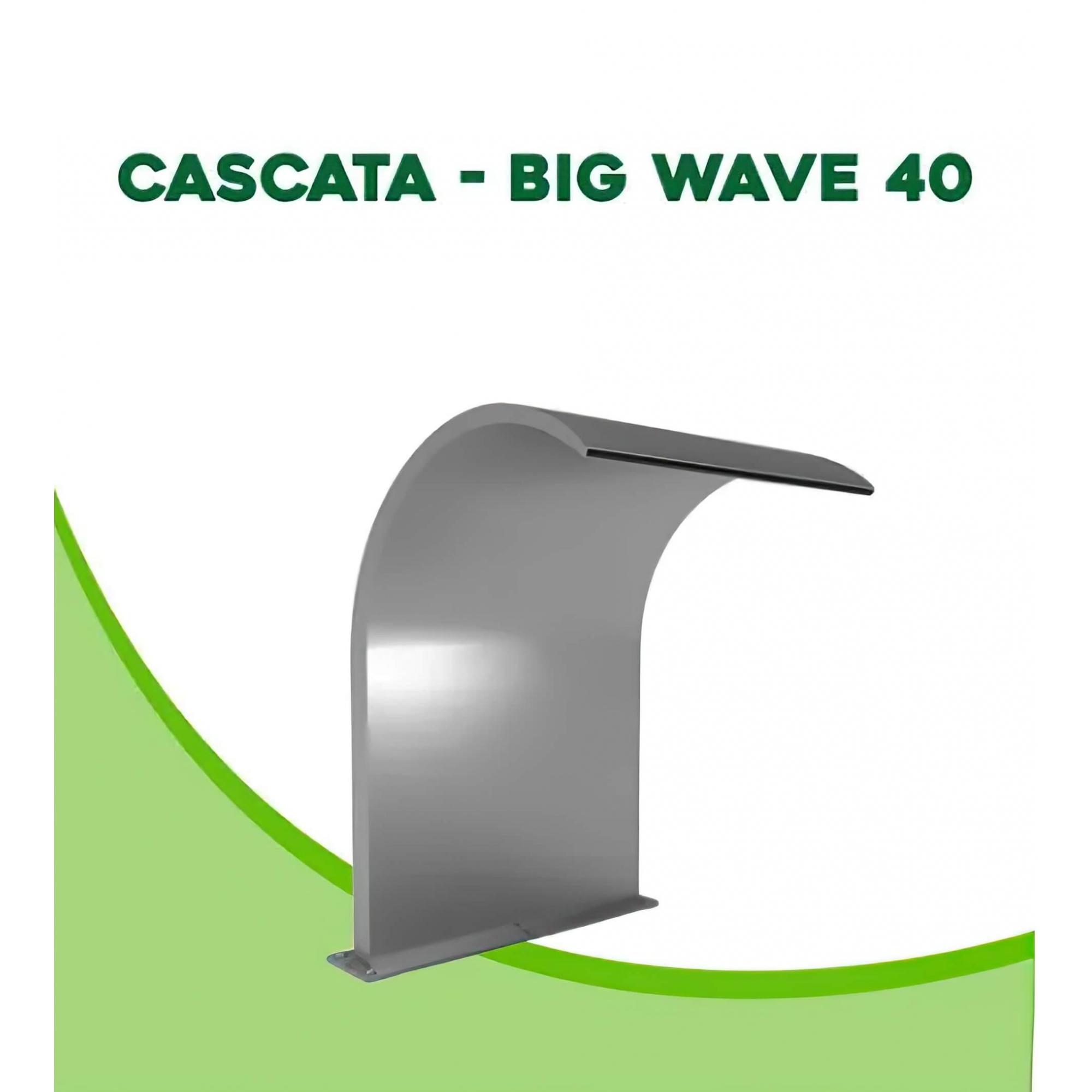 Cascata para Piscina inox Big Wave 40x40cm