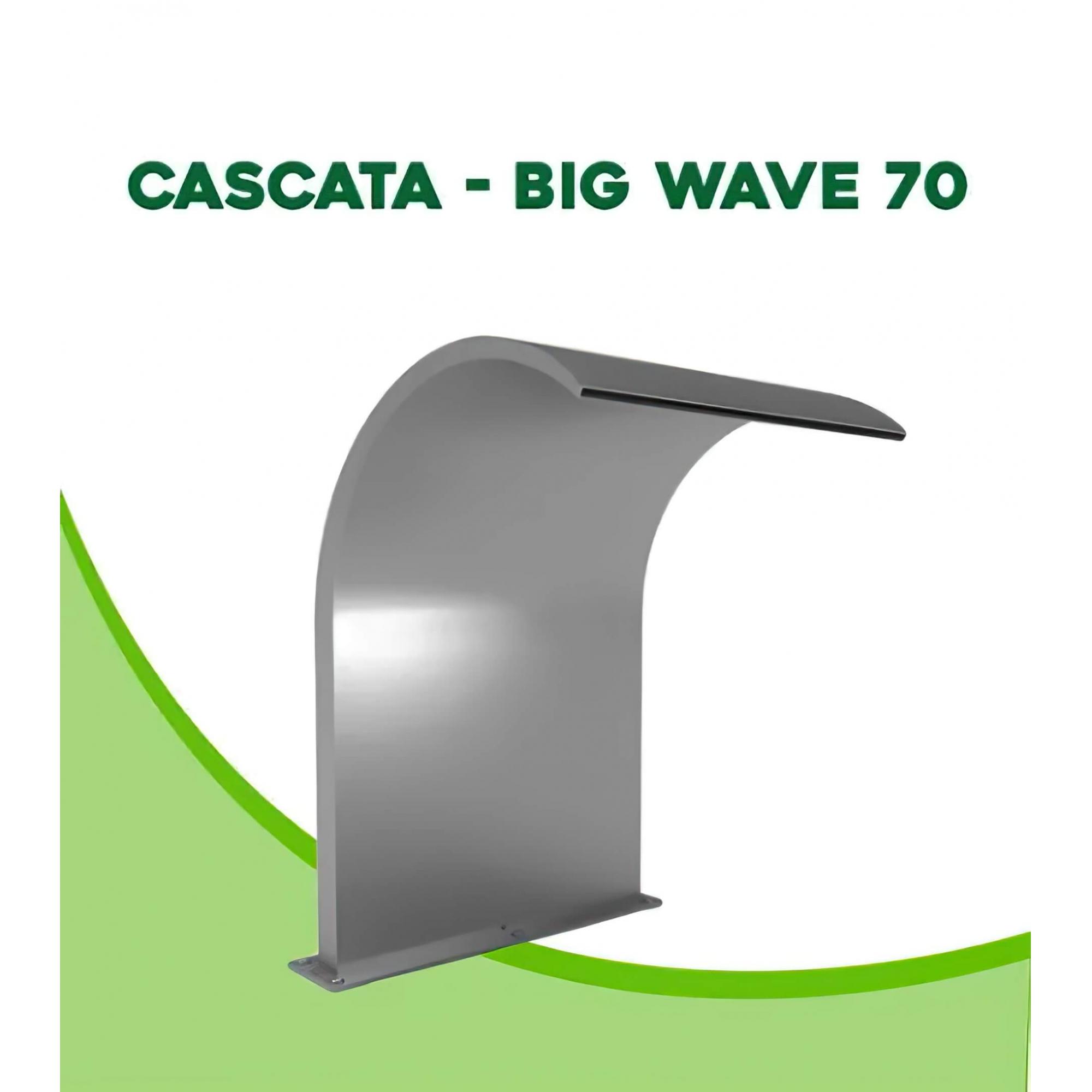 Cascata para Piscina inox Big Wave 70x50cm
