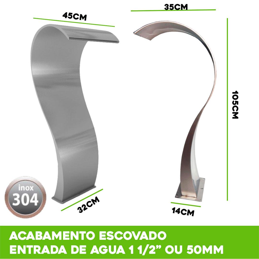 Cascata para Piscina inox Naja 105x45cm