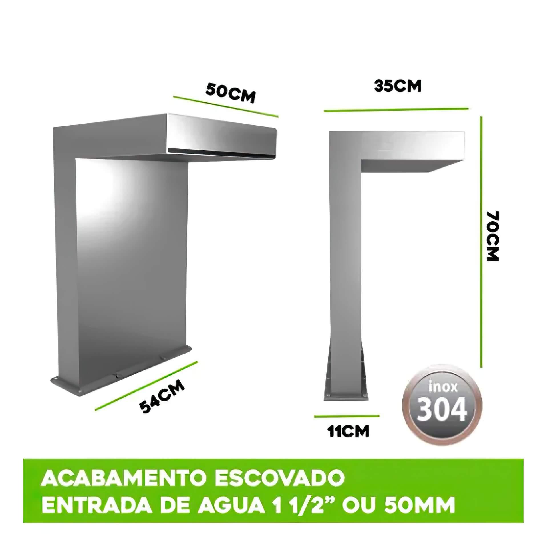 Cascata para Piscina inox Premium Line 70x50cm