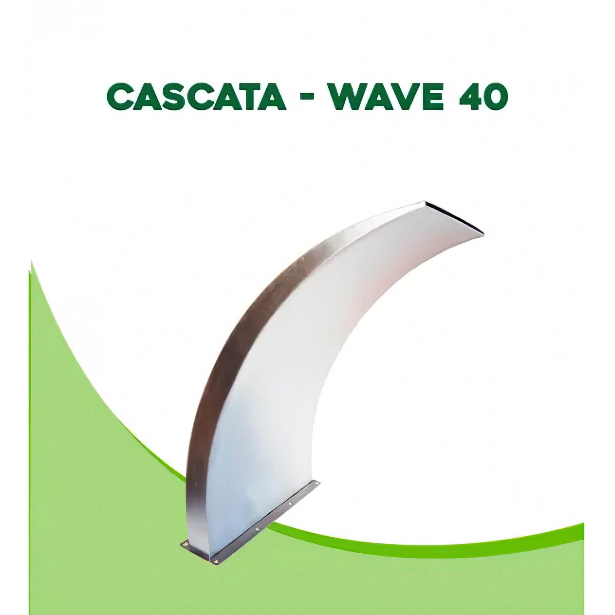 Cascata para Piscina inox Wave 40x40cm