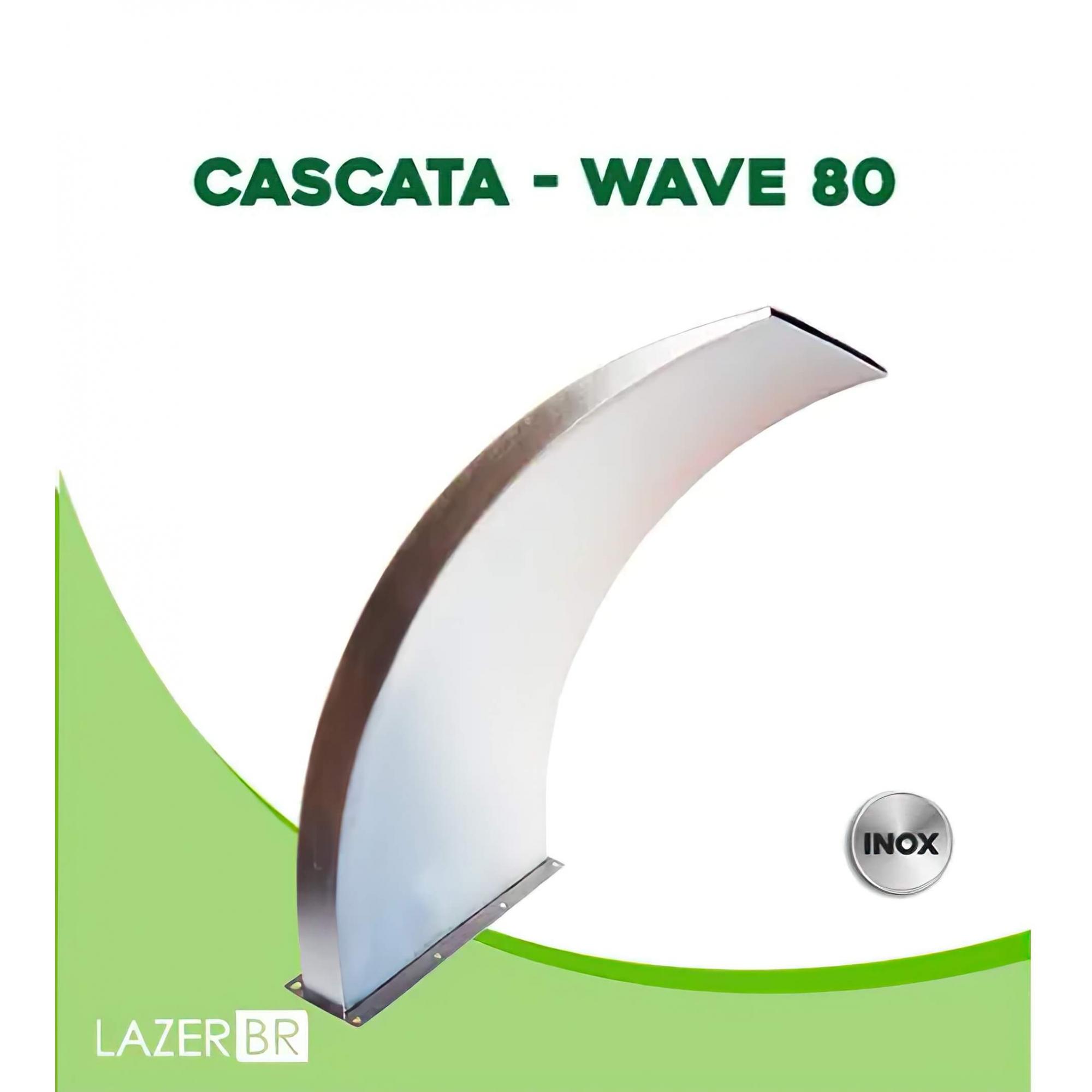 Cascata para Piscina inox Wave 80x50cm