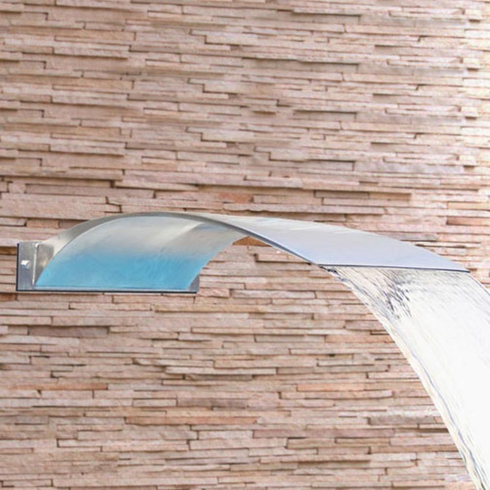 Cascata para Piscina inox Wave Wall 50x40cm