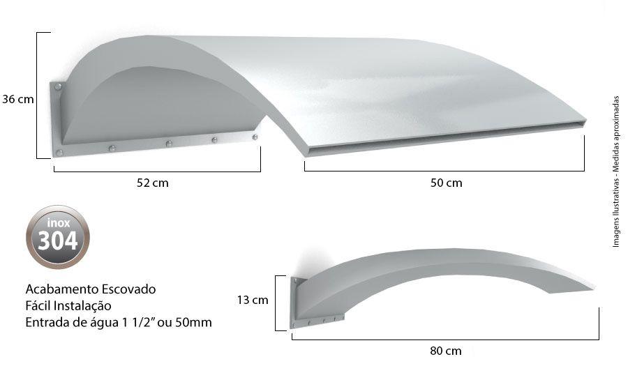 Cascata para Piscina inox Wave Wall 80x50cm